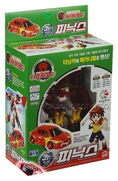 Turning Mecard Junior Jr. PHOENIX Transformer Car Robot Korea TV Animation Toy #Sonokong