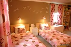 pink + brown girl's room by The Decorologist
