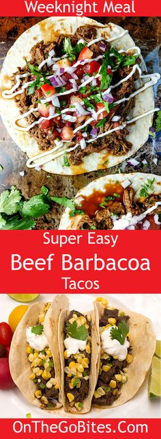 These beef barbacoa tacos take 15 minutes hands on time and then long and slow cooking in either the oven or slow cooker. How To Cook Brisket, How To Cook Beef, How To Cook Shrimp, Barbacoa Taco Recipe, Beef Barbacoa, Cooking Pork Chops, How To Cook Kale, Cooking With Essential Oils, College Cooking