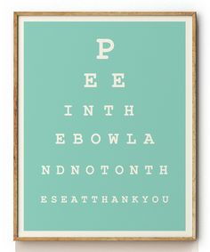 looksugar* Eye Chart Print | zulily