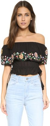 """""""RahiCali Embroidered Off Shoulder Top """" https://www.shopstylecollective.com/search?fts=off%20the%20shoulder"""