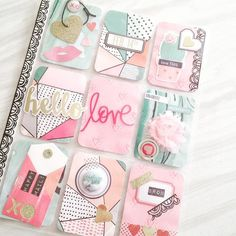 My Valentine Pocket Letter for the Valentine Planner event using @cratepaper paper, @wermemorykeepers die cuts, @cliquekits flair.#pocketletters #cratepaper #valentine #love #wermemorykeepers #scrapbooking