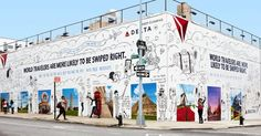 The 'Delta Dating Wall' is a partnership with Tinder. Delta Painted Exotic Locales on a Brooklyn Wall for Singles to Snap Selfies Like They're World Travellers. Creative Advertising, Advertising Design, Contextual Advertising, Selfies, Amsterdam, What Is Fashion Designing, Design Campaign, Best Ads, Photos Voyages