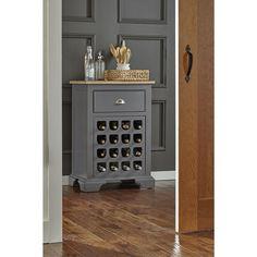 Luma Solid Wood Wine Cabinet, Grey