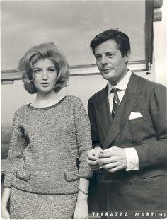 Monica Vitti e Marcello Mastroianni (1960)