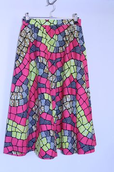 African print midi skirt  sizes 8  22 by annadevine on Etsy