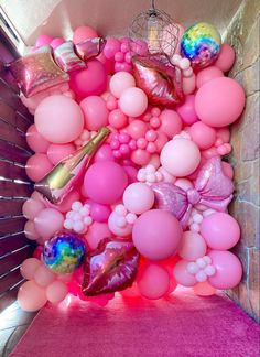 Barbie Party Decorations, Barbie Theme Party, Barbie Birthday Party, Diy Birthday Decorations, Balloons Galore, Pink Balloons, Birthday Balloons, Balloon Wall, Balloon Garland
