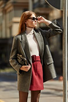 work wear - work wear The Effective Pictures We Offer You About outfits formales A quality picture can tell yo - Looks Street Style, Looks Style, Street Style 2018, Plaid Fashion, Look Fashion, Womens Fashion, Trendy Fashion, Elegance Fashion, Elegant Fashion Wear
