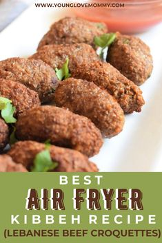 Change up your snacks with this delicious air fryer recipe, Kibbeh are Lebanese Beef Croquettes made with bulgur wheat and lots of mint! It's such an easy recipe and good for you. Toddler Food, Toddler Meals, Kibbeh Recipe, Beef Appetizers, Beef Recipes, Healthy Recipes, Best Air Fryers, Lifestyle Group, Air Fryer Recipes