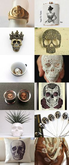 Super Skull Selection by Jen Neame-Collins on Etsy--Pinned with TreasuryPin.com