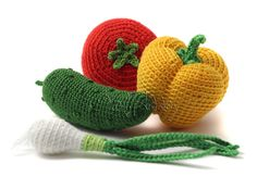 Crochet vegetables PATTERNS