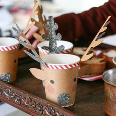 easy and nice low cost christmas crafts ideas for kids deer paper cups