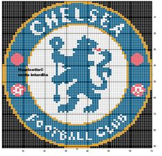 For my youngest son Football Chelsea, Fc Chelsea, Cross Stitch Love, Cross Stitch Charts, Modern Cross Stitch Patterns, Cross Stitch Designs, Grille Pixel Art, Perler Patterns, Crochet Patterns