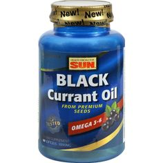 Health From the Sun Black Currant Oil - 1000 mg - 60 Softgels - Health From the Sun Black Currant Oil Description: Omega 3-6 Omega-3 150 mg GLA 170 mg From Premium Seeds Health From The Sun Black Currant Oil naturally supplies nutritionally important omega-6 Gamma-Linolenic Acid (GLA ) plus omega-3 Alpha-Linolenic Acid and Stearidonic Acid. This combination of fatty acids is what makes black currant oil so unique from other plant nutritional oils.Each softgel contains 1,000 mg of pure…