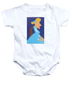 Patrick Francis White Designer Baby Onesie featuring the painting Portrait Of Adeline Ravoux 2014 - After Vincent Van Gogh by Patrick Francis