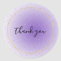 Shop Little Gold Hearts Purple Ombre Thank you Classic Round Sticker created by GirlyChic. Thank You Labels, Thank You Cards, Thank You Wallpaper, Paparazzi Jewelry Displays, School Timetable, Thank You Quotes, Gift Wrapping Supplies, Purple Ombre, Heart Of Gold