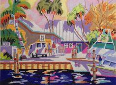 021 - Key West Cruising, 12 x 16, 13 mesh.