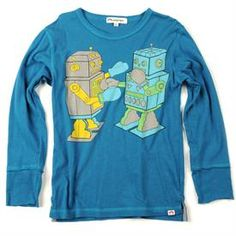 Robots Classic Tee - Pacific Blue