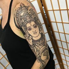 45 Sacred Hindu Tattoo Ideas – Incredible Designs Packed With Color and Meaning Check more at http://tattoo-journal.com/best-hindu-tattoo-designs-meaning/