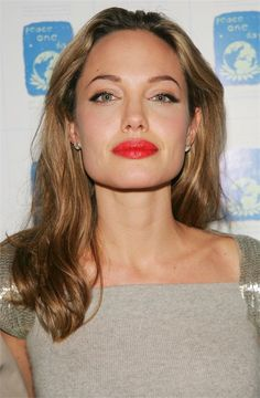 Angelina Jolie (2005) She looks good with any color hair! Gorgeous brown with honey brown high lights.