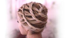 Spiral Örgülü Kabarık Saç Modeli Yapılışı - Özel günler için veya günlük evde yapabileceğiniz spiral örgülü yaratıcı kabarık saç modeli tekniği (Everyday Updo Hairstyle For Medium Long Hair Tutorial Video)