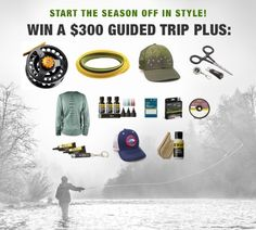 Win an epic fly fishing giveaway from Amberjack, Cheeky, RIO, RepYourWater, and Loon!