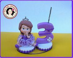 Mini topo princesa sofia em biscuit