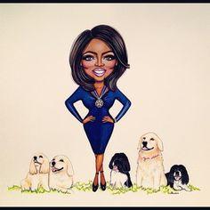 Oprah | 24 Super Cute Drawings Of Fashionable Celebrities