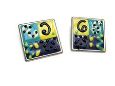Art Nouveau Pierced Earrings