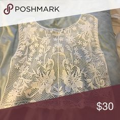 White Paisley Dress Top Paisley See Through Tank Top Abercrombie & Fitch Tops Tank Tops