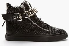 Giuseppe Zanotti star black silver via Luxury store. Click on the image to see more!
