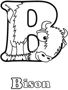 Colouring-in page - sample from 'Alphabetimals Picture Dictionary' via Dover Publications ~s~ Alphabet Worksheets, Alphabet Activities, Worksheets For Kids, Preschool Activities, Printable Alphabet Letters, Alphabet Stencils, Alphabet Crafts, Preschool Writing, Preschool Lesson Plans