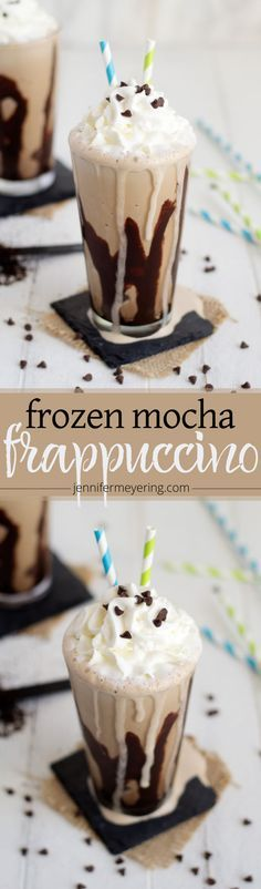 Make your favorite coffeehouse frappuccino right in your own home with just a few simple ingredients! Smoothie Drinks, Smoothie Recipes, Keurig Recipes, Smoothies, Fondue Recipes, Copycat Recipes, Ninja Coffee Bar Recipes, Yummy Drinks, Yummy Food