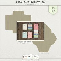 Journal card envelope by Deena Rutter perfect for Project Life!