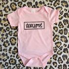 PUNK SKA REGGAE Band SUBLIME Baby Girl Onesie Pink Black size 9-12 months NEW