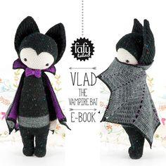 "PATRÓN de crochet en PDF ""murciélago vampiro VLAD"" de lalylala - handmade por DaWanda.com"
