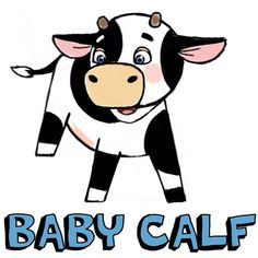 Step finished colorized calf How to Draw Cute Cartoon Baby Cows with Step by Step Drawing Tutorial Love Sketch Images, Girl Drawing Images, Boy And Girl Drawing, Cow Drawing Easy, Drawing For Kids, Easy Drawings, Drawing Stuff, Drawing Board, Cute Baby Cow