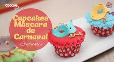 Cupcakes Máscara de Carnaval - Senhora Inspiração! Blog