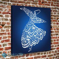 Mavi Zemin Semazen Tablo #dekoratif_kanvas_tablo