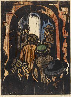 Jakob Steinhardt - Eingang zum Haus der Lehrer, 1921