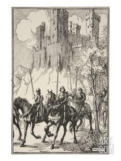 Sir Galahad at Abbey, illustration, 'Stories of King Arthur and the Round Table' by Beatrice Clay. Illustrations by Dora Curtis King Arthur Legend, Legend Of King, Henry Wood, Framed Artwork, Wall Art, Illustration Story, Archaeological Discoveries, Knight In Shining Armor, Knights