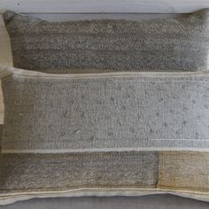 hand woven cushions-grey-with-loops made by Susie Gillespie