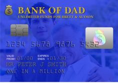 We know Dad is a bank. Why not give him his own credit card design on a card? J Smith, Credit Card Design, Fathers Day Cards, One In A Million, Classroom Ideas, Birthday Cards, Card Making, Dads, Greeting Cards