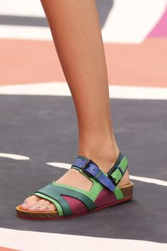 sporty sandals at Burberry SS15
