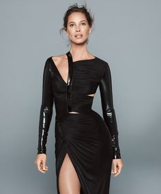 """""""Well, I did tell Calvin, with Eternity, 'If you name something that and put me on it, what the hell do you expect?'"""" Gown, $4,550, Versace. 888-721-7219.   - HarpersBAZAAR.com"""