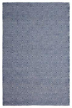 New Ashford Denim/White Rug contemporary-rugs