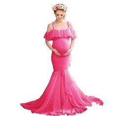 Beautiful Mermaid Maternity Dresses - Photo Shoot Women Pregnancy ... Mermaid Maternity Dress, Maternity Gowns, Maternity Shoots, Maternity Photography Props, Pregnancy Photography, Sexy Dresses, Dresses With Sleeves, Long Sleeve Short Dress, Types Of Skirts