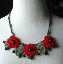 Resultado de imagen para flower crochet necklace