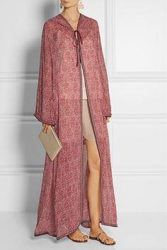 Talitha | Printed silk-georgette kaftan-style jacket | NET-A-PORTER.COM