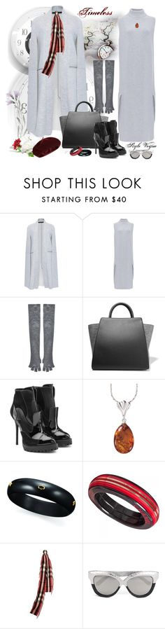 """Simple look"" by lamipaz ❤ liked on Polyvore featuring Sally Lapointe, Alice + Olivia, ZAC Zac Posen, Alexander McQueen, Natures Jewelry, Chanel, Burberry, Linda Farrow, Accessorize and moda"